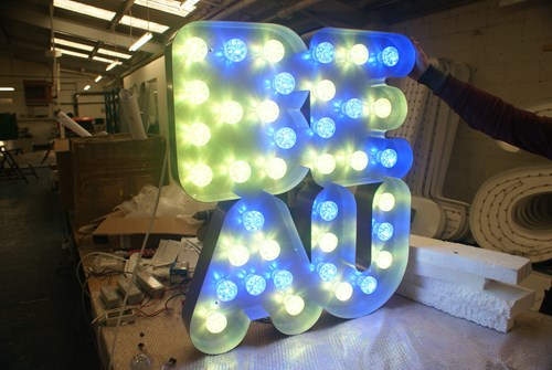 colour changing LED signs